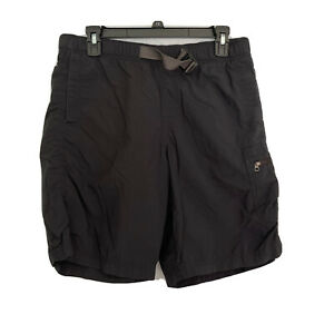 Columbia Omni Shade Mesh Lined Swim Fishing Shorts S Black Sun Protection Belted