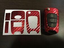 Carbonio Cromo Rosso Pellicola Chiave Hyundai ad es. i10 i20 i30 ix35 ix20