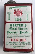 Vintage Empty HERTER'S Display 164 shotgun powder display 10 Oz Tin Collector