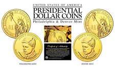 24K Gold Plated JOHN F KENNEDY 2015 Presidential $1 Dollar 2-Coin Set - P&D MINT