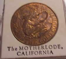 MOTHERLODE GOLD COUNTRY CALIFORNIA COLLECTION BRASS COIN TOKEN