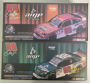 Dale Earnhardt Jr. #88 2008 Amp Energy Relaunch 2 Pack Diecast Racing Cars 1:24