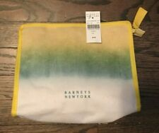 NEW authentic Barney's white/yellow/green large cosmetic bag