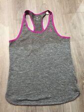 Genuine Adidas Grey & Purple Climalite Gym Top Size Medium