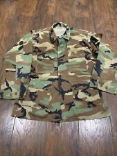 US Military Vintage Genuine Camo Shirt Authentic Camouflage Men's PRE-OWNED #10