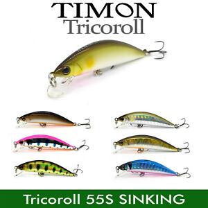JACKALL TIMON TRICOROLL 55S SINKING FISHING BAIT MINNOW JAPAN LURE 55mm 3.5g