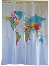 Modern world map fabric shower curtain new free shipping