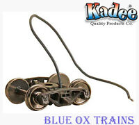 "KADEE 590 HO Bettendorf Caboose Electrical Pick Up Trucks 33"" Smooth Back Wheels"