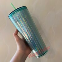 Starbucks 2020 Holiday Iridescent Bubble Mint Green Tumbler 24oz Cold Cup NEW