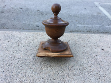 Antique Architectural Salvage Wooden Newel Post Finial
