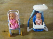 Fisher-Price - Other Dollhouse Doll House Baby Swing Stroller & Twin Baby Dolls