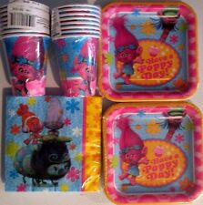 TROLLS Birthday Party Supply Kit w/Cups, plates & Napkins