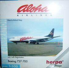 BOEING 737-700 ALOHA AIRLINES scala 1/500 HERPA (513029)