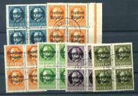 Bavaria Section Blocks of Four Postmarked (H9256