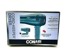 Conair Cord Keeper 1875 Watts Ionic Hair Dryer Blue compact fast drying 289DGN
