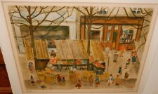 CHARLES BLONDIN STREET MARKET SCENE LIMITED EDITION HAND SIGNED LITHOGRAPH