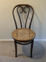 Vintage Thonet Bentwood Cafe Chair Wood Cane Seat