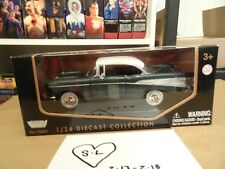 MOTOR MAX 1/24 SCALE AMERICAN CLASSICS GREEN WHITE 1957 CHEVY BEL AIR #55