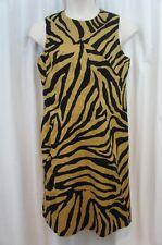 Anne Klein Dress Sz 12 Black Khaki Sleeveless Sheath Business Dinner Dress