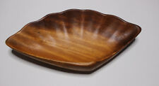 Shell Shaped Wood Bowl Kitchen Dining Decoration Clam Beach House Mermaid Decor