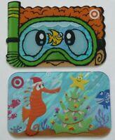 Target Gift Card LOT of 2 Die-Cut Snorkel 2005 & Foil Sea Horse 2007 - No Value