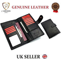 Genuine Leather Designer Travel Wallet Document Organiser Passport Cover Holder