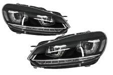 Fari per VW Golf 6 VI 08-13 3D DRL U-Golf 7 Look LED Flowing Turning Luce Diurne