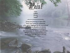 """""""Mountain Stream"""" Name Meaning Prints Personalized (Inspirational)"""
