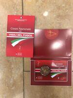 CARD 2020 ITALIA 2 EURO CORPO NAZIONALE DI VIGILI DEL FUOCO fire fighters ITALY