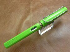 LAMY SAFARI FOUNTAIN PEN GREEN FINE NIB BRAND NEW W/ BOX/PAPERS/WARRANTY