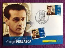"""2010 Cartolina Filatelica FDC """"Giorgio Perlasca"""" Annullo PADOVA CENTRO"""