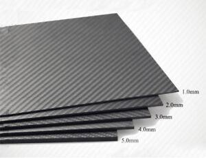 Full Carbon Fiber Plate DIY Panel Sheet 3K Twill Weave Glossy 400*500*(0.5-5)mm