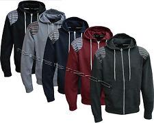 New Mens/Womens Aztec Print Patch Fleece Hooded Sweatshirt Zip Up Top M - XL