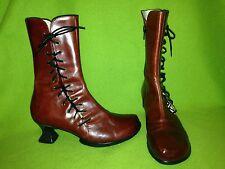 Red Fluevog Wearever Toda Boots 6.5