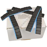 7x SCHWARZE Auswuchtgewichte 12x5g Klebegewichte Stahlgewichte Kleberiegel