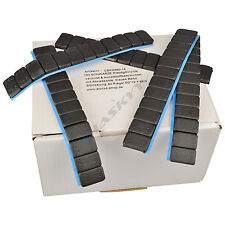 25 BLACK Wheel weights 12x5g Klebegewichte Steel weights Adhesive bars