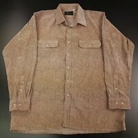 Golden Elephant Mens Vintage Suede Shirt XL Long Sleeve Regular Fit