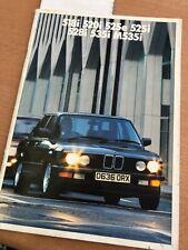 Vintage BMW Brochure 518i 520i 525e 202i 528i 535i M535i 1985 / 1986