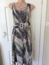 M & co  black/natural party/cocktail dress size 14 Immac Hols 25/5 To 6/6