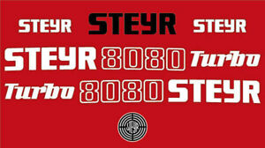 Steyr 8080 turbo tractor decal aufkleber adesivo sticker set