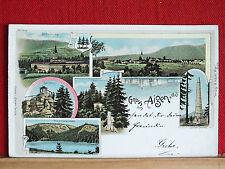 Farblitho - Gruss aus Aigen - im Mühlkreis - ua. Plöckensteinsee , Stift Schlägl