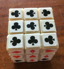 Vintage Playing Cards Rubicks Cube Puzzle