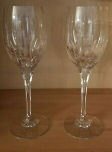Artic Lights Crystal Stemware by  Mikasa Pair of Water Goblets