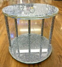 CRUSHED DIAMOND SILVER CRYSTAL CAKE STAND