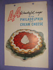 Kraft Philadelphia Cream Cheese 44 Wonderful Ways 1950s Ad Booklet Cook Book