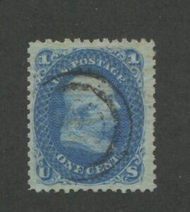1868 États-unis Envoi Tampon #86 D'Occasion F/VF Partiel Spirale Postal Cancel