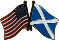 USA American Scotland Cross Friendship Flag Bike Motorcycle Hat Cap lapel Pin