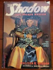 The Shadow and the Golden Master by Walter B.Gibson/Maxwell Grant 1st/1st HC DJ