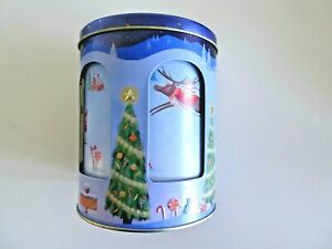 Marks and Spencer Rotating Musical Christmas Biscuit Tin Plays Jingle Bells