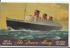 the queen mary long beach ca postcard